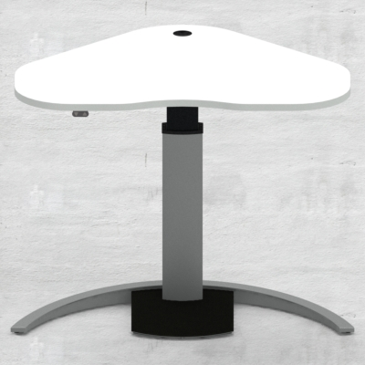 Electric Adjustable Desk | 117x90 cm | White with silver frame